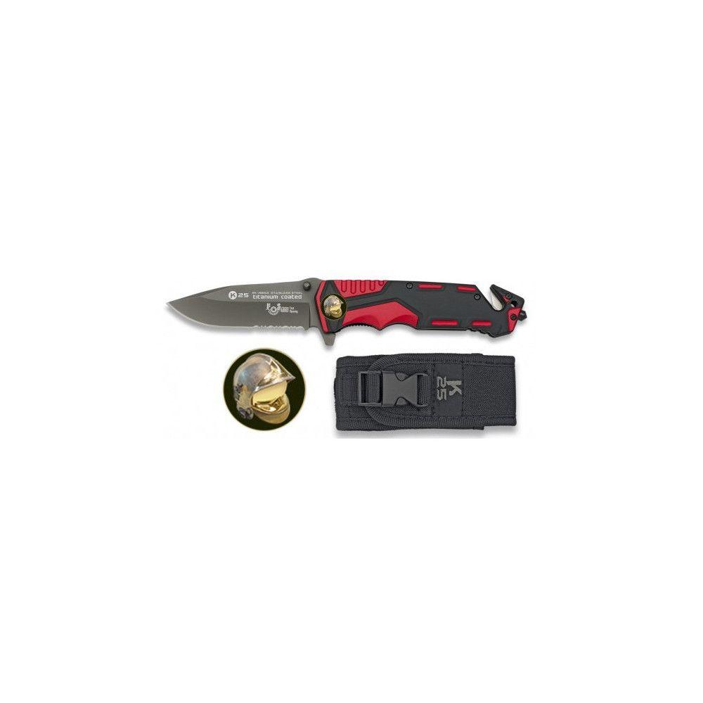 Couteau de poche Sapeurs-pompiers K25 19653-A