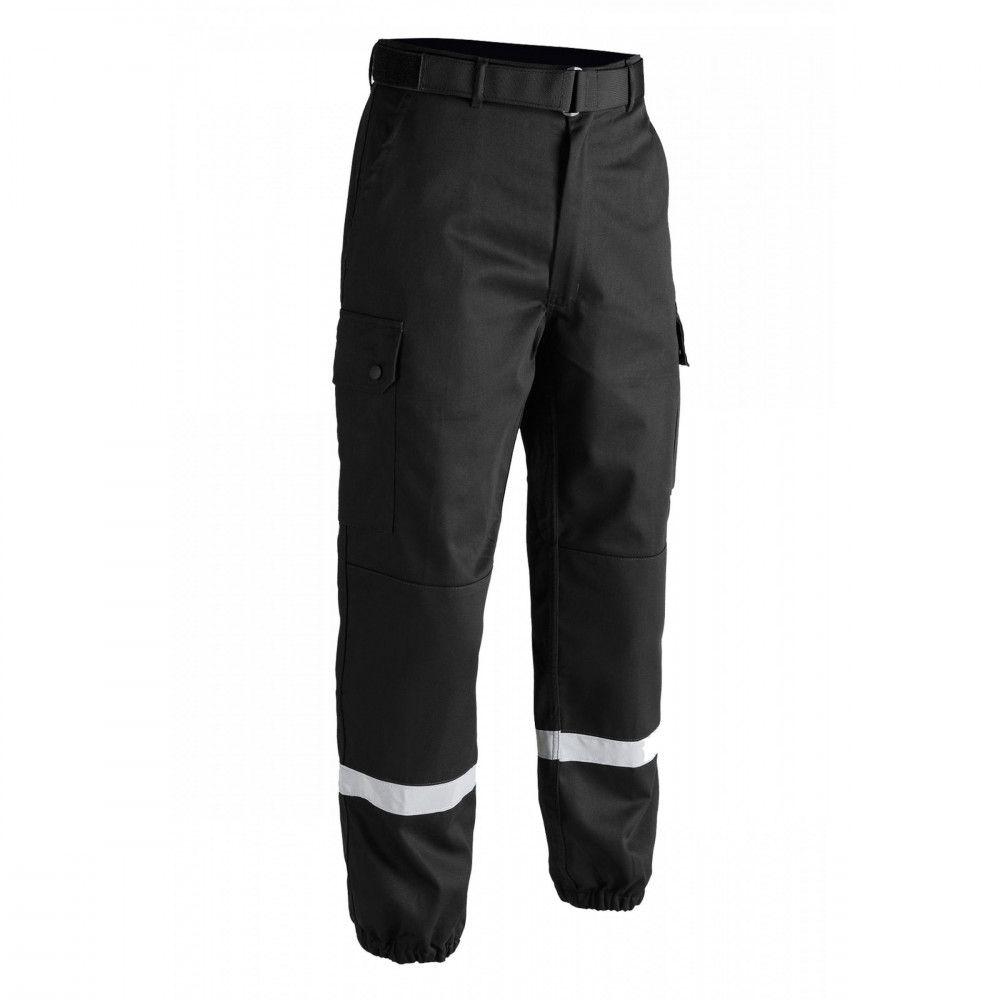 Pantalon treillis F2 bandes rétro-réfléchissantes noir Toe Concept