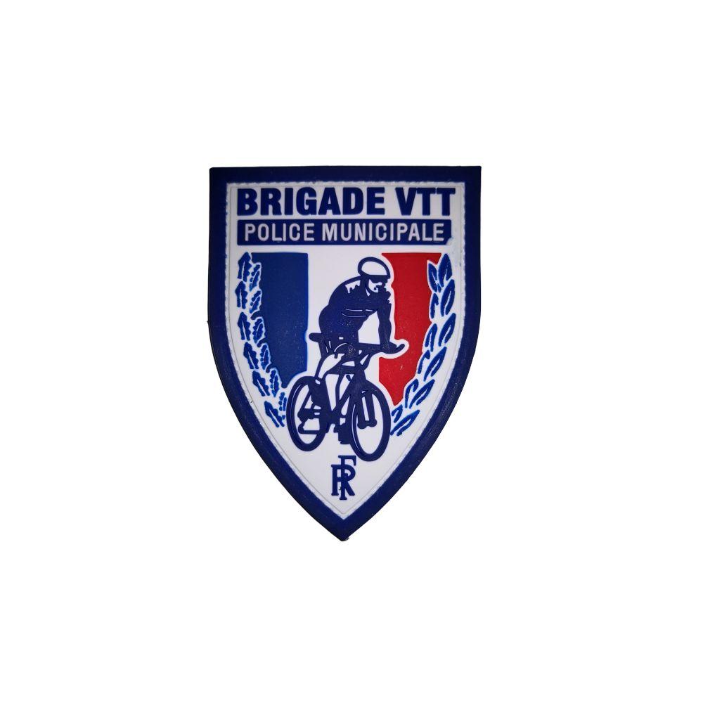 Écusson de bras PVC Police Municipale Brigade VTT