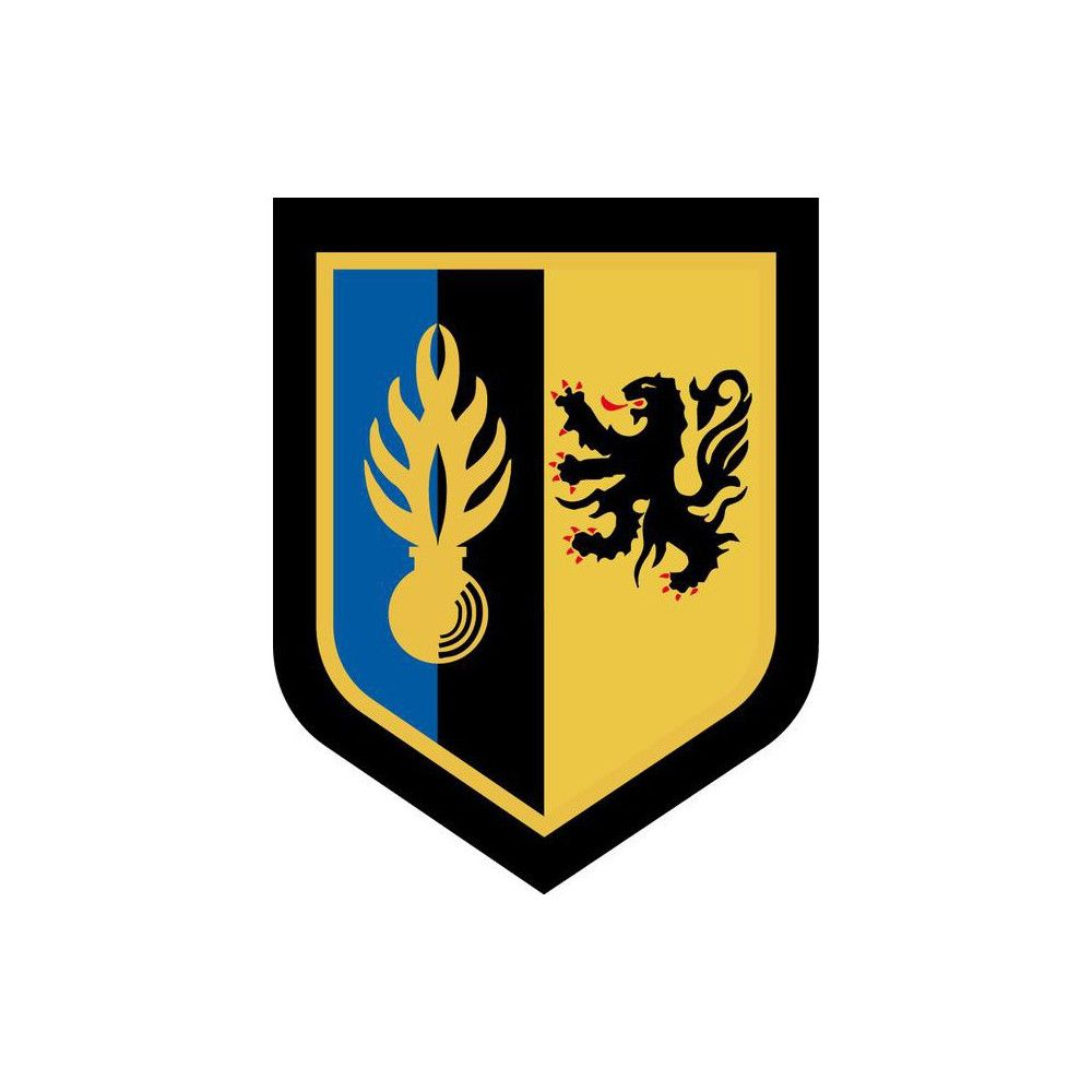Ecusson de Bras Brode Zone de Defense de Lille