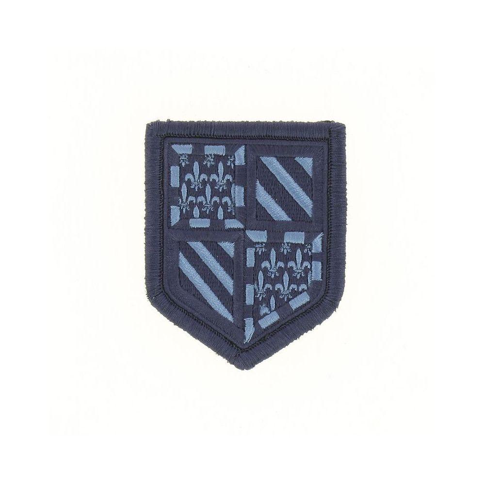 Ecusson de Bras Brode Gendarmerie Departemetale Bourgogne Basse Visibilite Bleu