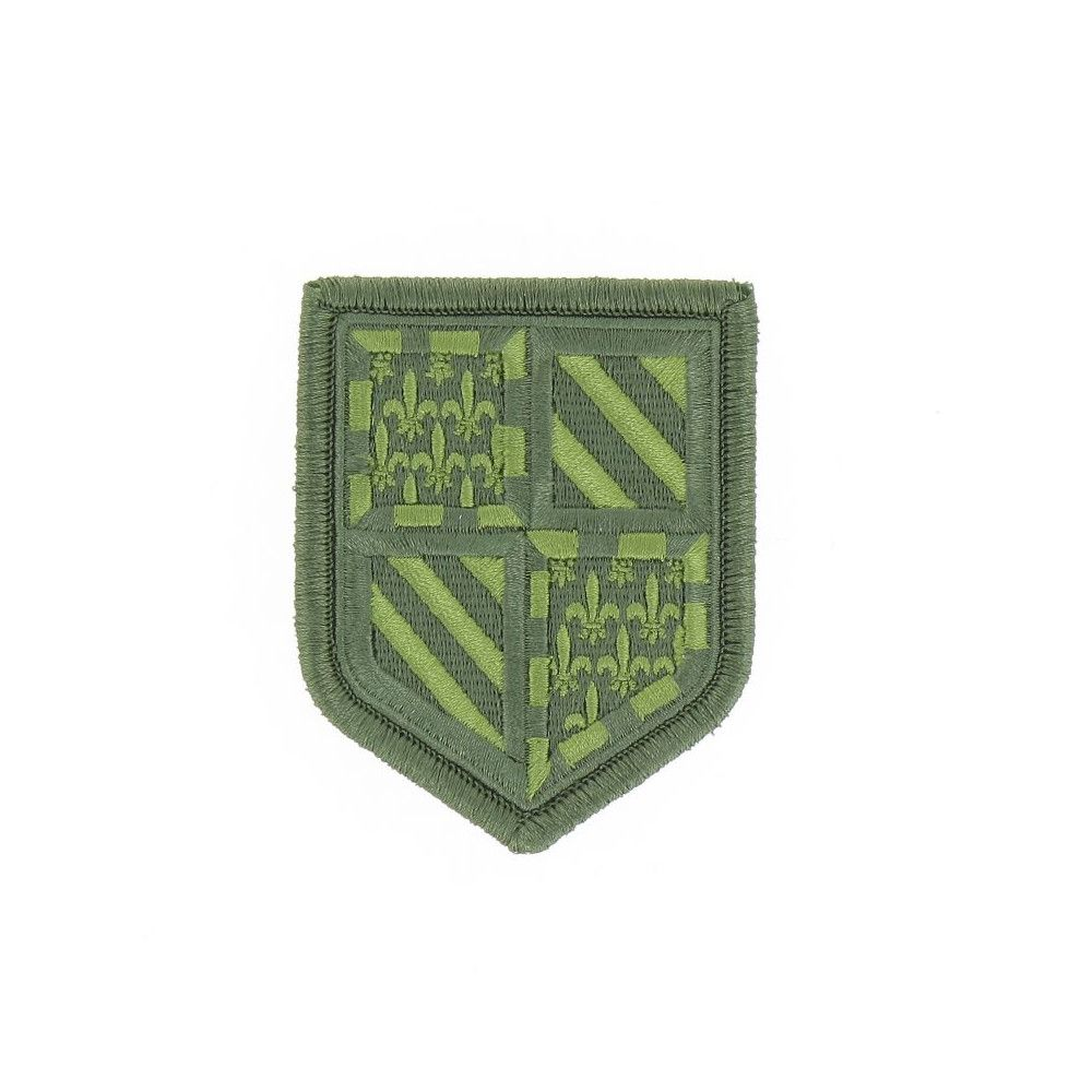 Ecusson de Bras Brode Gendarmerie Departemetale Bourgogne Basse Visibilite Vert