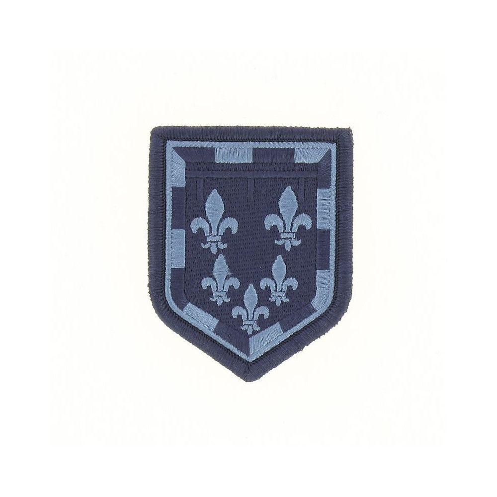 Ecusson de Bras Brode Gendarmerie Departemetale Centre Basse Visibilite Bleu