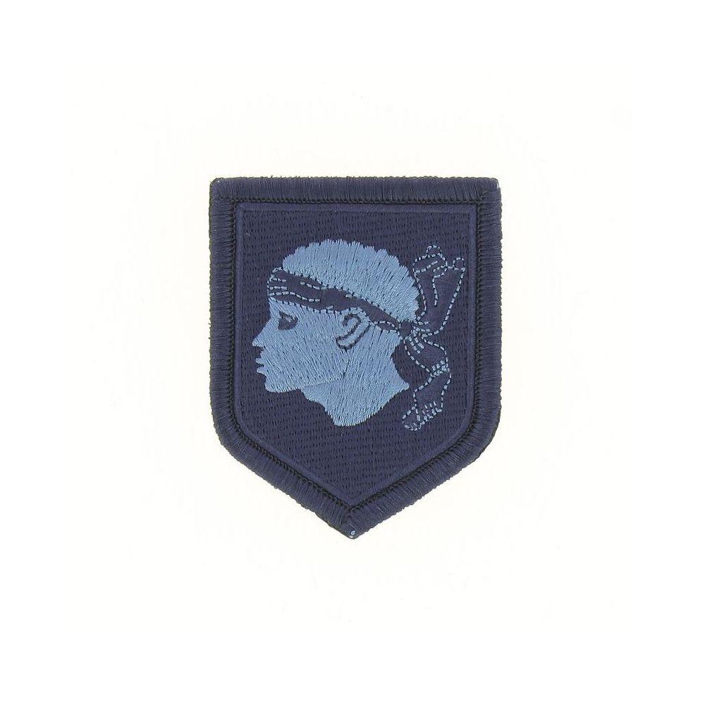Ecusson de Bras Brode Gendarmerie Departemetale Corse Basse Visibilite Bleu
