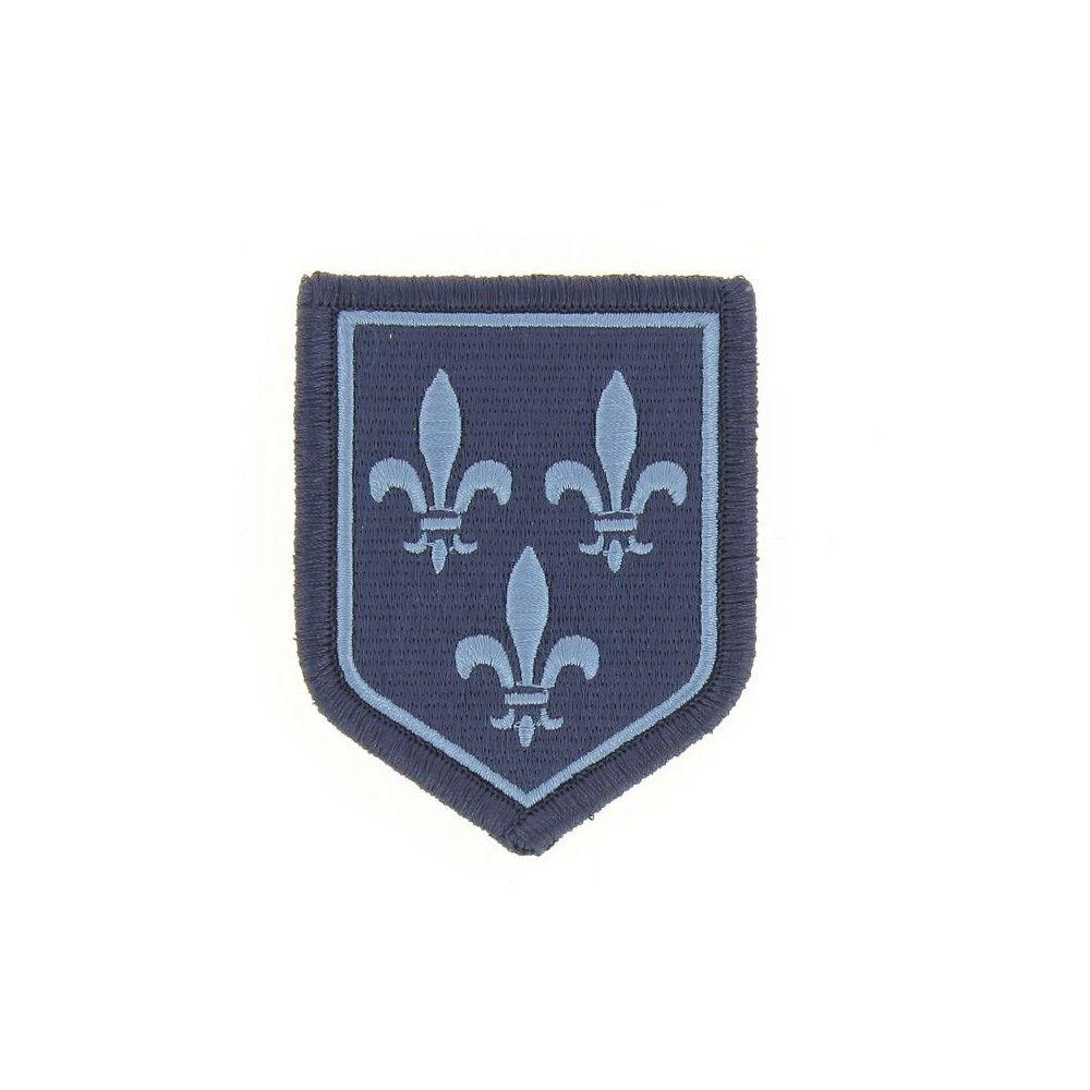 Ecusson de Bras Brode Gendarmerie Departemetale Ile de France Basse Visibilite Bleu