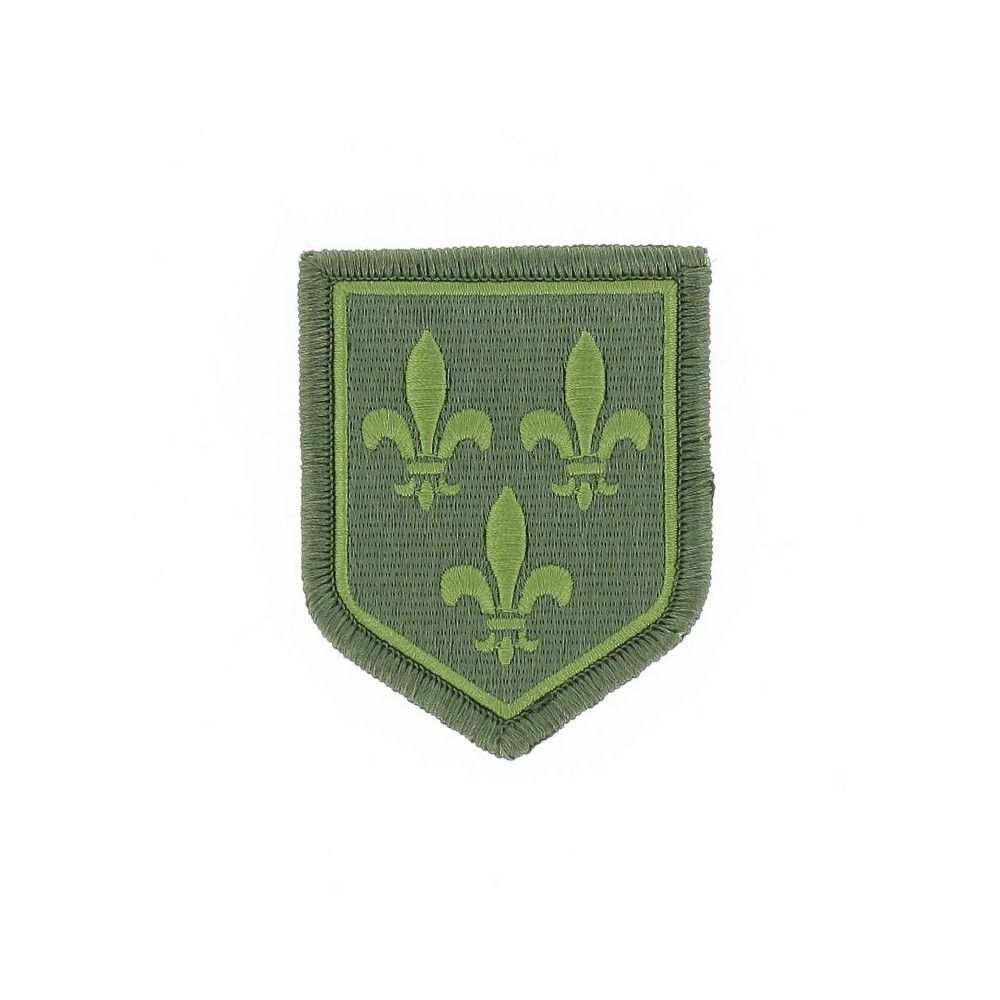 Ecusson de Bras Brode Gendarmerie Departemetale Ile de France Basse Visibilite Vert