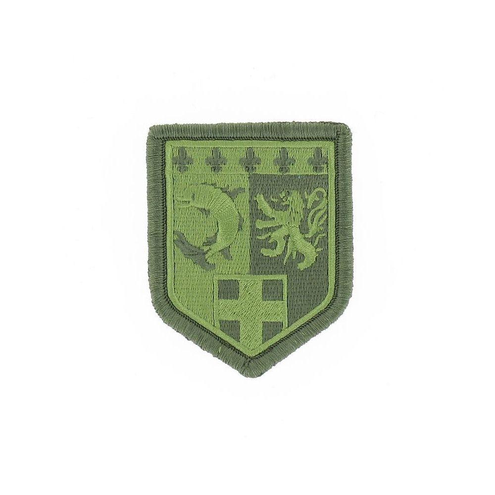 Ecusson de Bras Brode Gendarmerie Departemetale Rhone Alpes Basse Visibilite Vert
