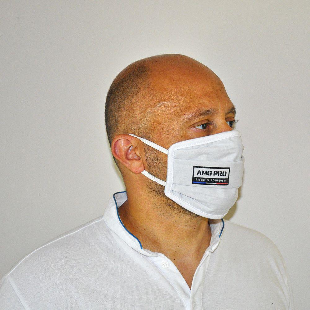 Masque tissu 3 plis personnalisé AMG Pro