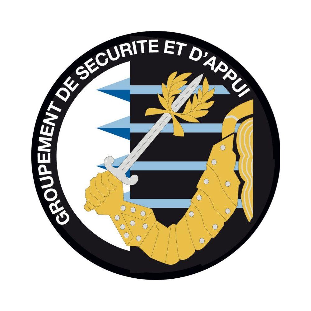 Ecusson de Bras Brode Groupement de securite et d'appui GSAN