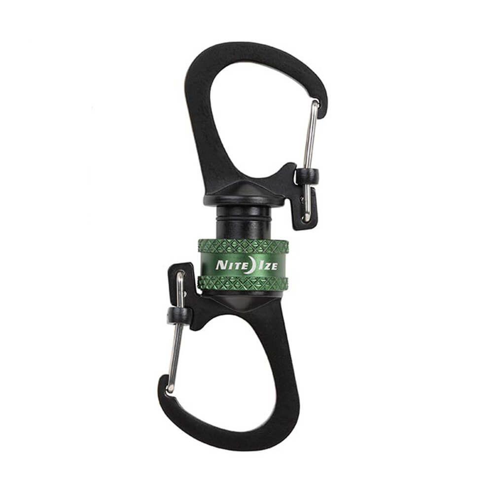 Mousqueton double à verrouillage magnétique SlideLock® 360°